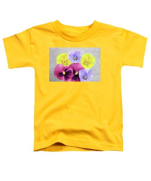 Pretty Pansies Toddler T-Shirt