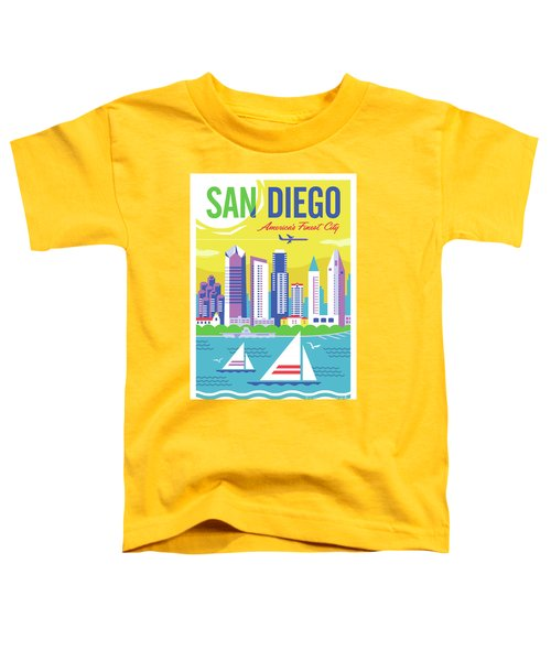 San Diego Poster - Retro Travel  Toddler T-Shirt