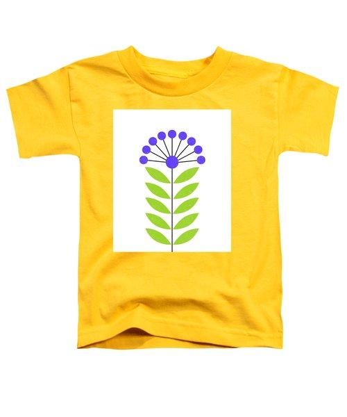 Scandinavian Royal Blue Flower Toddler T-Shirt