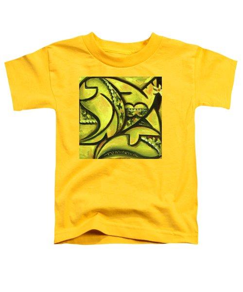 Tommervik Hawaiian Woman Wearing Fancy Dress Art Print Toddler T-Shirt
