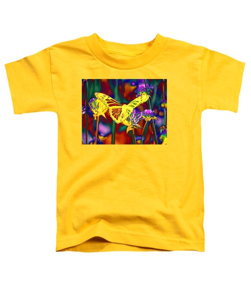 Yellow Monarch Butterfly Toddler T-Shirt