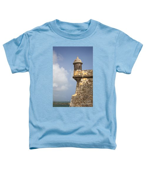 Fortified Walls And Sentry Box Of Fort San Felipe Del Morro Toddler T-Shirt