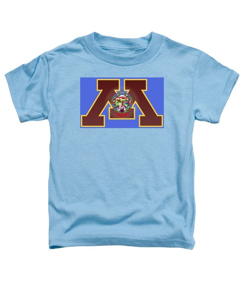 U Of M Minnesota State Flag Toddler T-Shirt by Daniel Hagerman