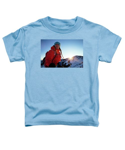 A Woman Backcountry Skiing Toddler T-Shirt