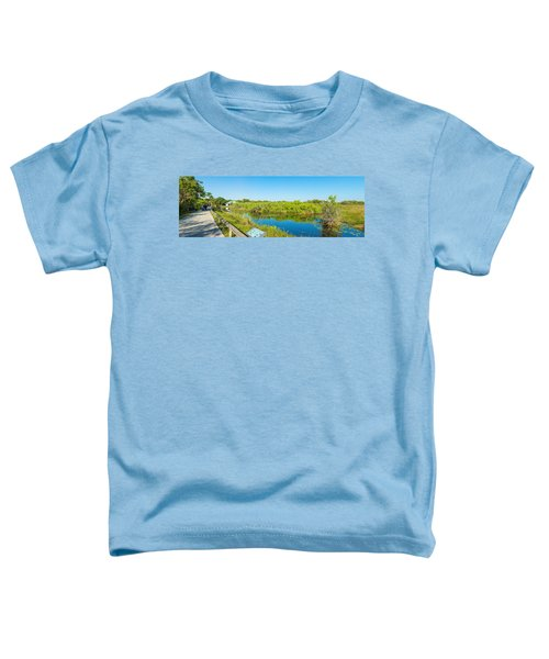 Reflection Of Trees In A Lake, Anhinga Toddler T-Shirt