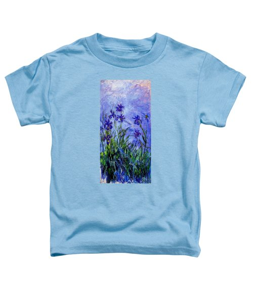 Toddler T-Shirt featuring the painting Irises by Celestial Images