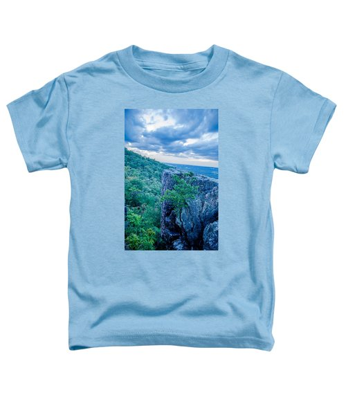 Beautiful Aerial Landscape Views From Crowders Mountain Near Gas Toddler T-Shirt