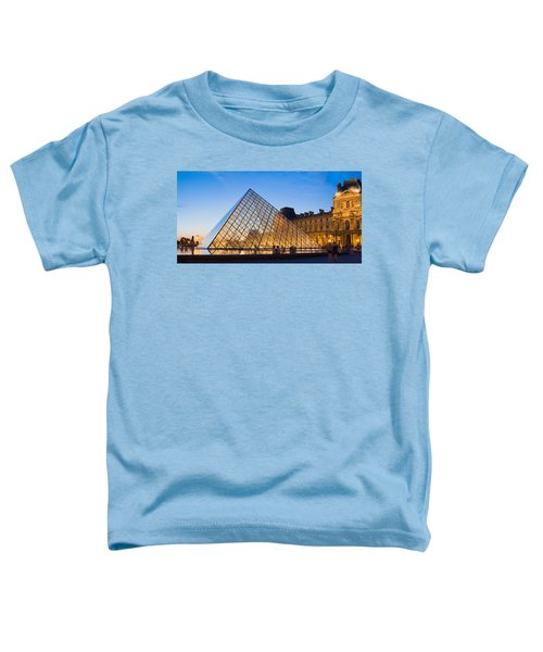Pyramid In Front Of A Museum, Louvre Toddler T-Shirt by Panoramic Images