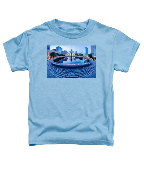 St. Louis Downtown Skyline Buildings At Night Toddler T-Shirt