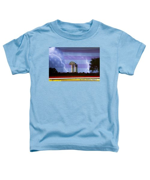 9-11 We Will Never Forget 2011 Poster Toddler T-Shirt
