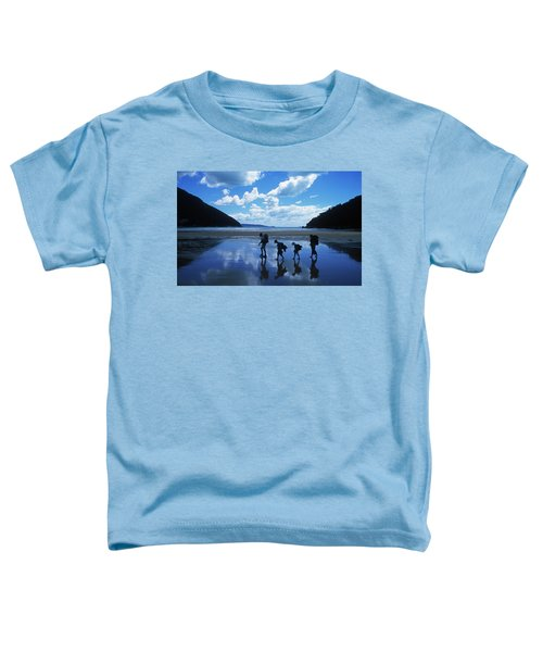 A Family Of Hikers Walks Toddler T-Shirt