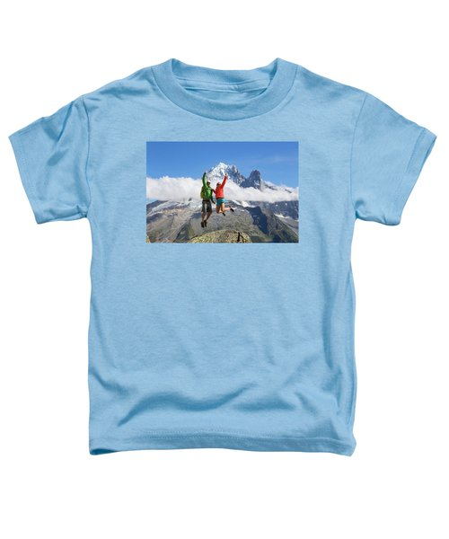 A Male And Female In Colorful Clothing Toddler T-Shirt