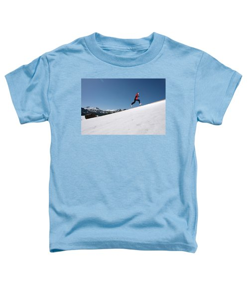 A Man Runs Alone On A Late Winter Day Toddler T-Shirt