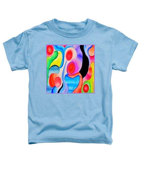 Abstract Peacock Toddler T-Shirt