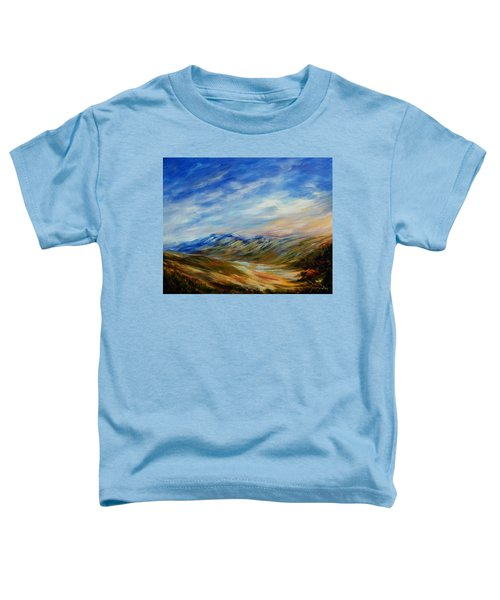 Toddler T-Shirt featuring the painting Alberta Moment by Joanne Smoley