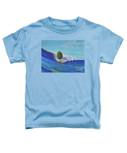Alex The Surfing Avocado Toddler T-Shirt