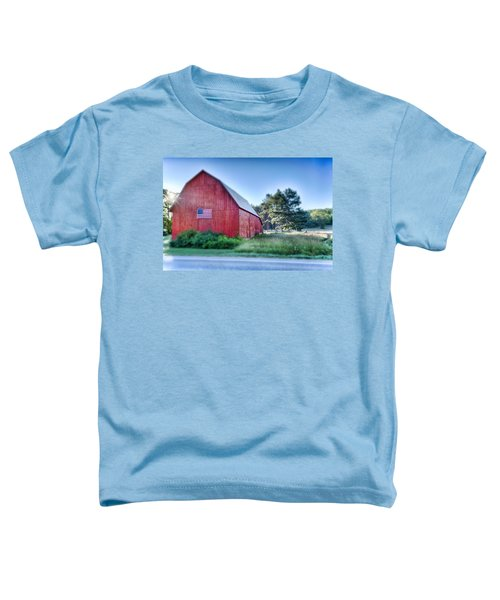 Toddler T-Shirt featuring the photograph American Barn by Sebastian Musial