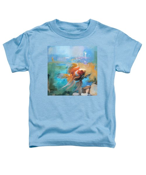 Aqua Gold Toddler T-Shirt by Catf