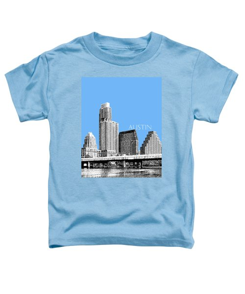Austin Skyline - Sky Blue Toddler T-Shirt