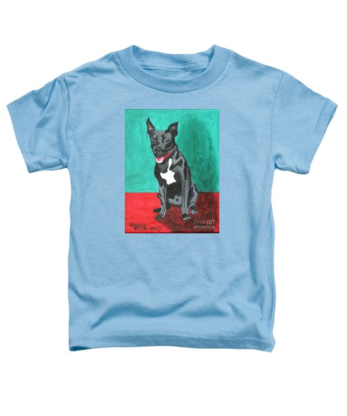 Black Pit Bull Terrier Toddler T-Shirt