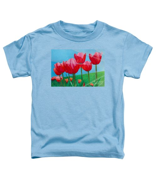 Blue Ray Tulips Toddler T-Shirt