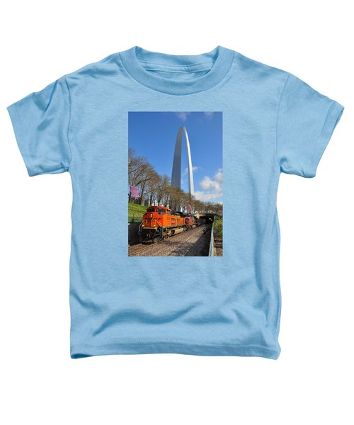 Bnsf Ore Train And St. Louis Gateway Arch Toddler T-Shirt