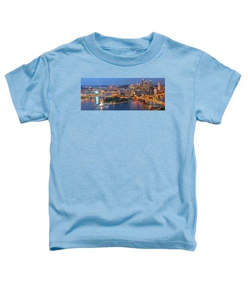 Bridge To The Pittsburgh Skyline Toddler T-Shirt
