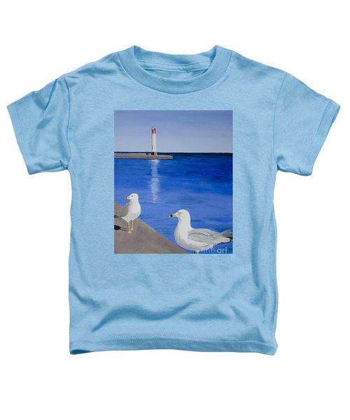 Bronte Lighthouse Gulls In Oil Toddler T-Shirt
