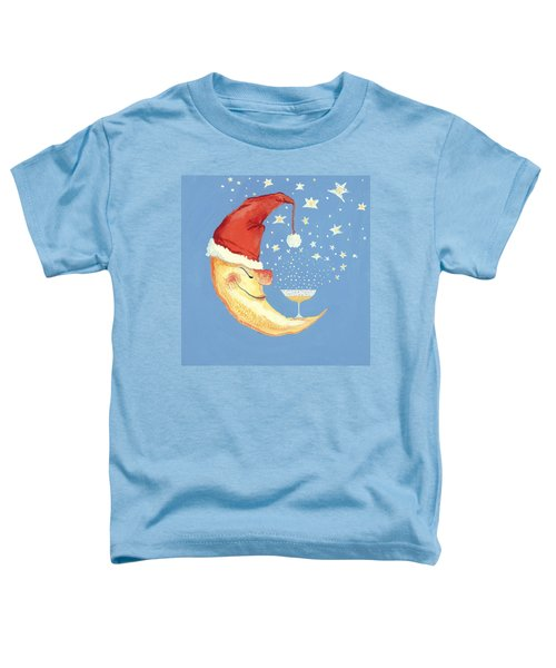 Bubbly Christmas Moon Toddler T-Shirt