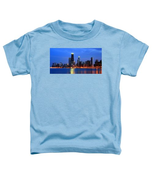 Chicago Dusk Skyline Hancock Toddler T-Shirt