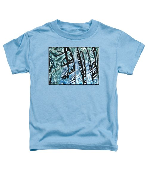 Criss Cross Lines Abstract Alcohol Inks Toddler T-Shirt