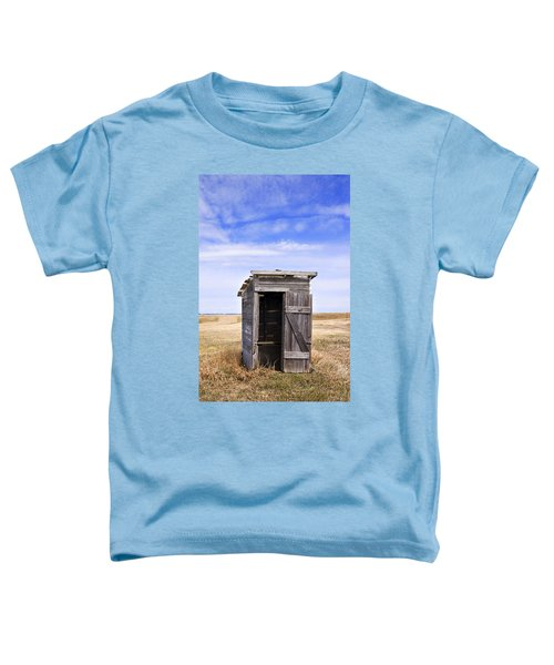 Defunct Outhouse At Rural Elementary School Toddler T-Shirt