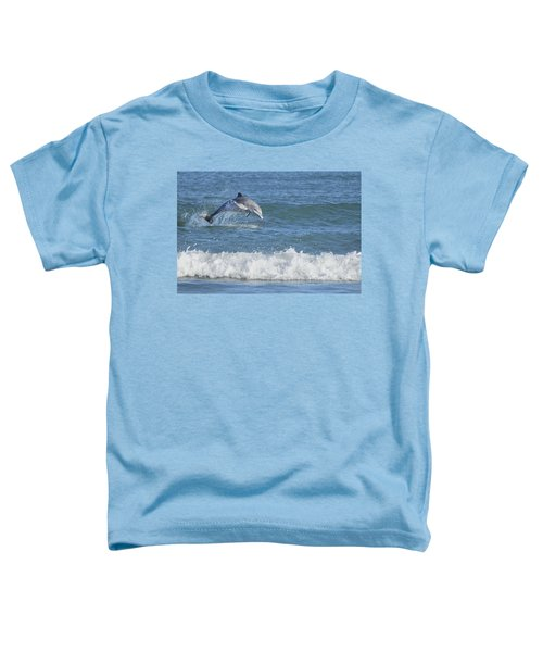 Dolphin In Surf Toddler T-Shirt