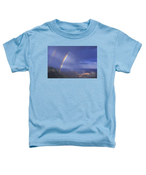 Double Rainbow At Cape Royal Grand Canyon National Park Toddler T-Shirt