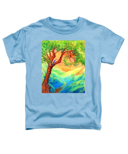 Dreaming Of Bluebells Toddler T-Shirt by Jane Small