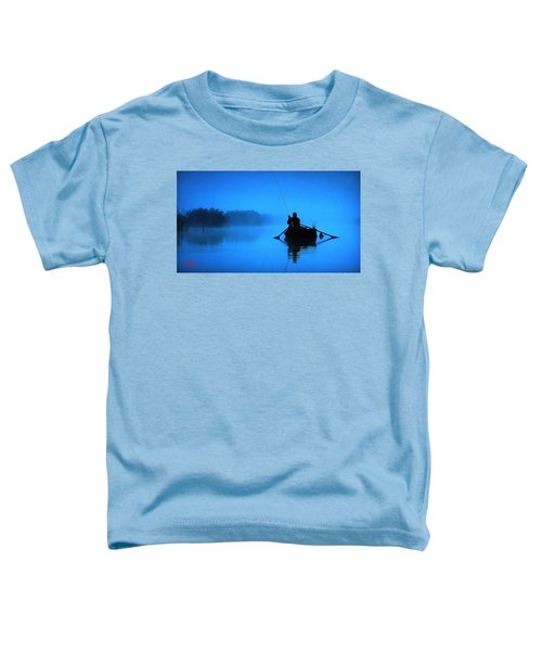 Toddler T-Shirt featuring the photograph Early Morning Fishing  by Colette V Hera  Guggenheim