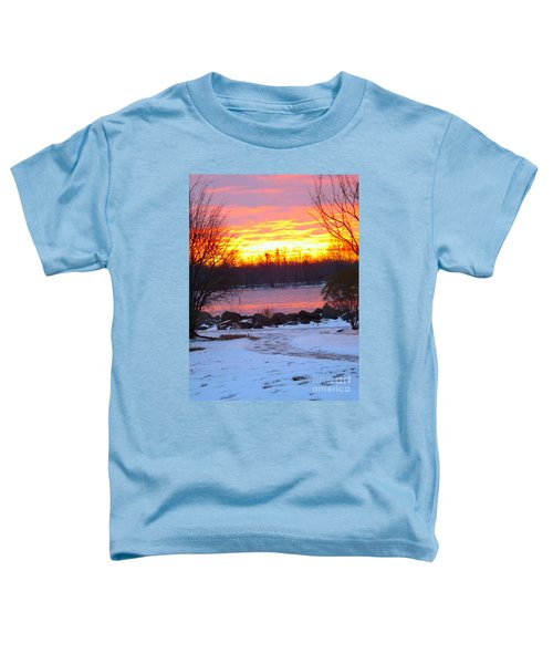 Fire And Ice Sunrise On The Delaware River Toddler T-Shirt