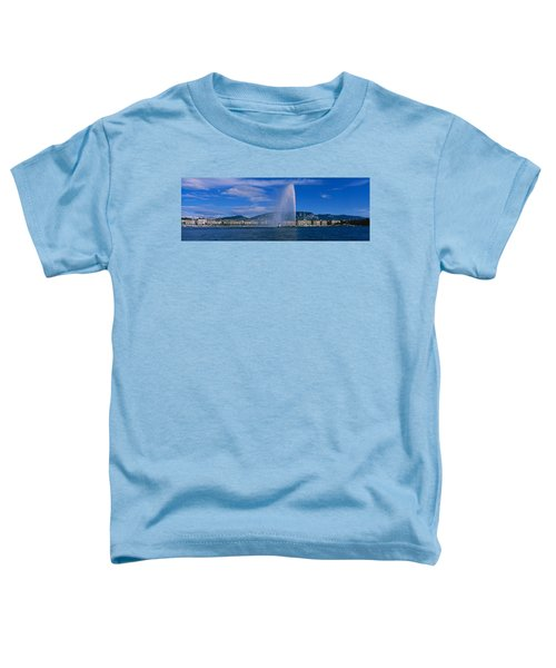 Fountain In Front Of Buildings, Jet Toddler T-Shirt