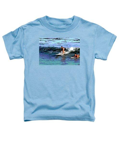 Friends Sharing A Wave Toddler T-Shirt