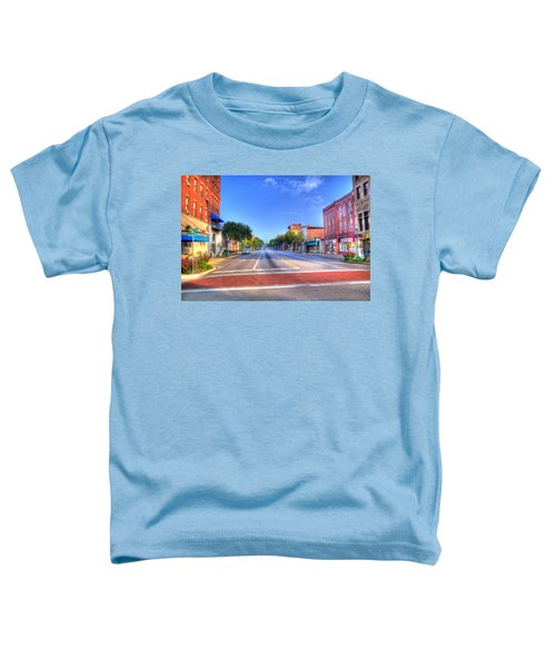 Toddler T-Shirt featuring the photograph Front Street Marietta by Jonny D