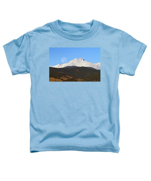 Full Moon Setting Over Snow Covered Twin Peaks  Toddler T-Shirt