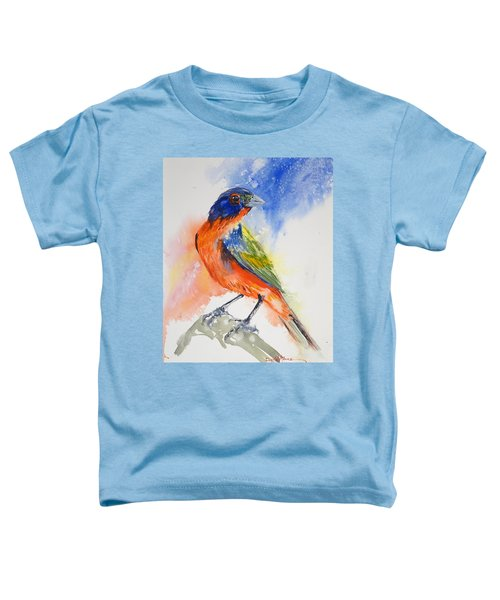 Da188 Glow Of The Painted Bunting Daniel Adams Toddler T-Shirt