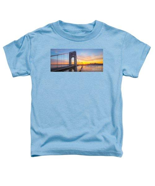 Gw Bridge Panorama Sunburst  Toddler T-Shirt