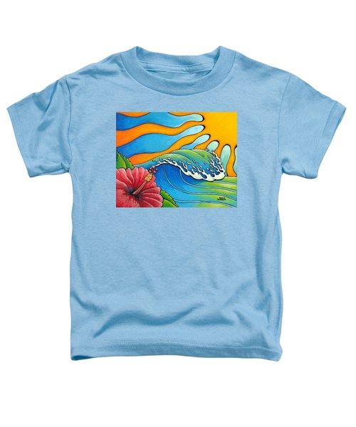 Hibiscus Wave Toddler T-Shirt