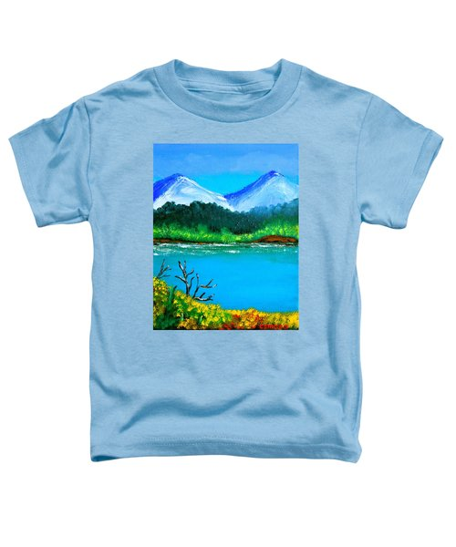 Hills By The Lake Toddler T-Shirt