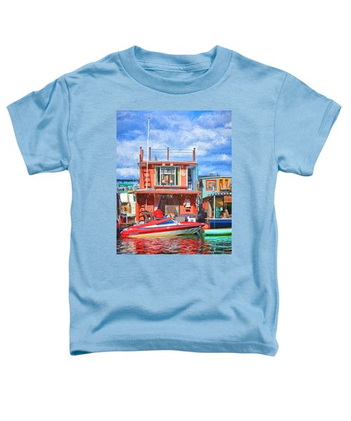 Houseboat #2 - Lake Union - Seattle Toddler T-Shirt