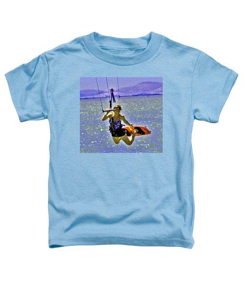 A Kite Board Hoot Toddler T-Shirt