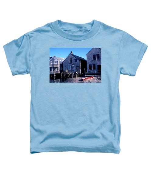 Toddler T-Shirt featuring the photograph Little Red Boat On Nantucket by Joy McKenzie