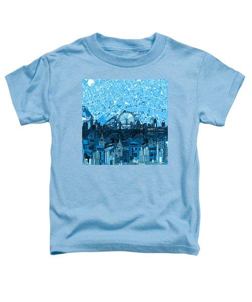 London Skyline Abstract Blue Toddler T-Shirt