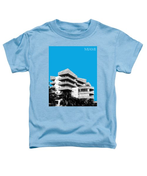 Miami Skyline Art Deco District - Ice Blue Toddler T-Shirt